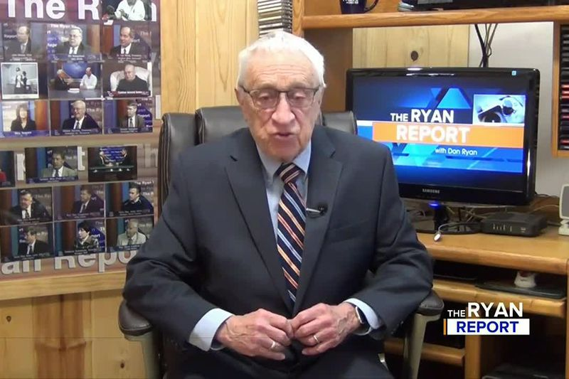 TV6's Don Ryan on an episode of The Ryan Report in March 2021.