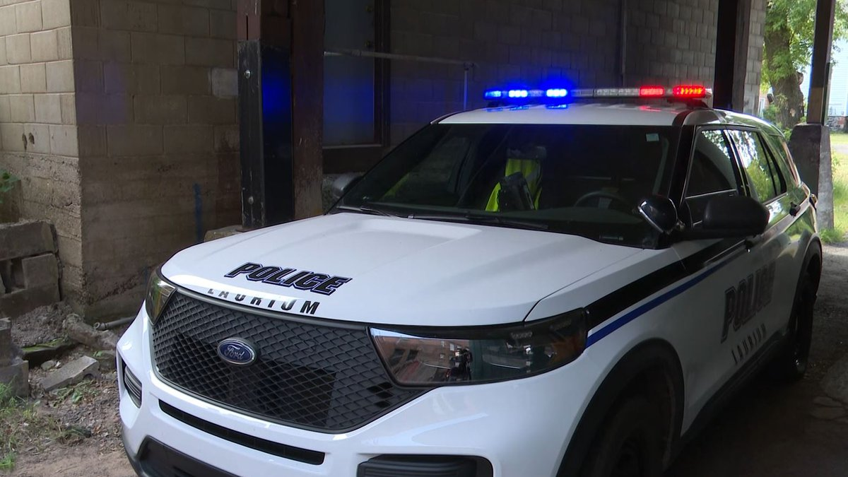 A Laurium Police vehicle