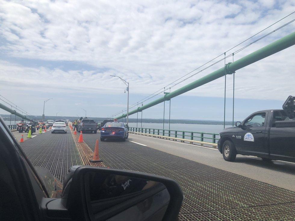 A crash on the Mackinac bridge reportedly involves multiple vehicles