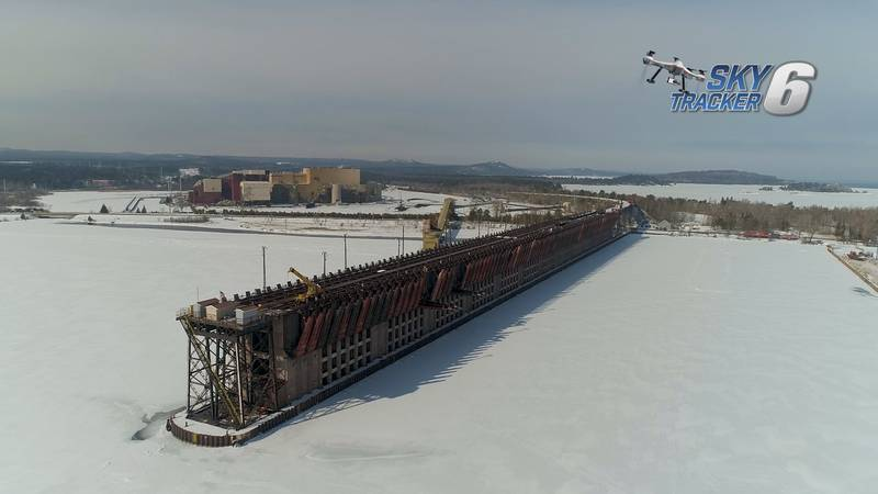 The LS&I Dock in Marquette's Upper Harbor is seen after the 2020 shipping season ended.