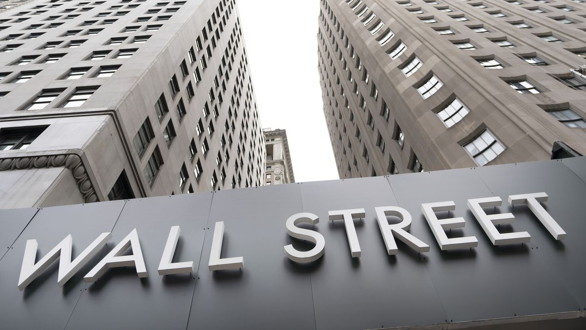 Buildings line Wall Street on Monday, Aug. 31, 2020, in New York.