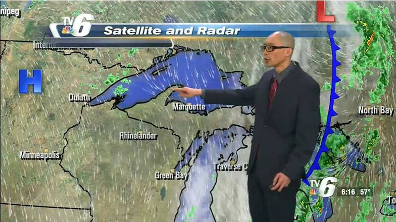 Chance of overnight light showers, then clearing for more sunshine Wednesday afternoon with...