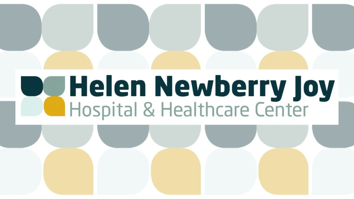 (Helen Newberry Joy Hospital & Healthcare Center graphic with WLUC edits)