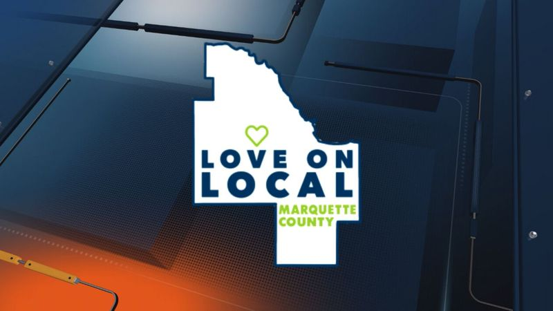 ('Love on Local' Marquette County logo)