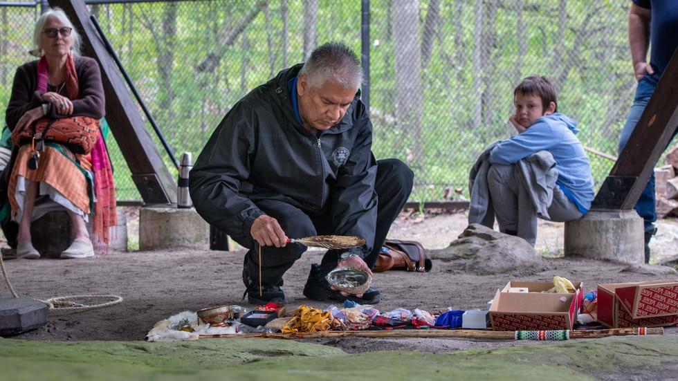 William Johnson, curator with the Ziibiwing Center of Anishinabe Culture and Lifeways, is...
