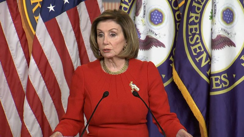 House Speaker Nancy Pelosi, D-Calif., speaks at a news conference Thursday, May 13, 2021, in...