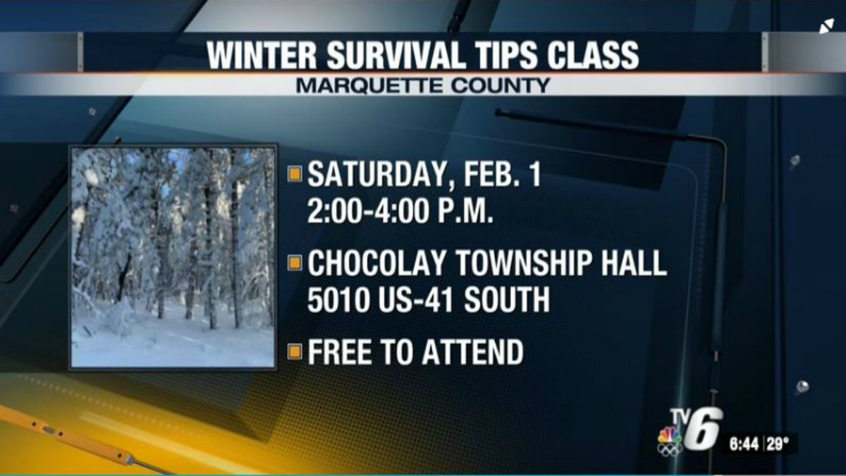 Marquette County Sheriff Greg Zyburt says the class will help people know what to do in the...