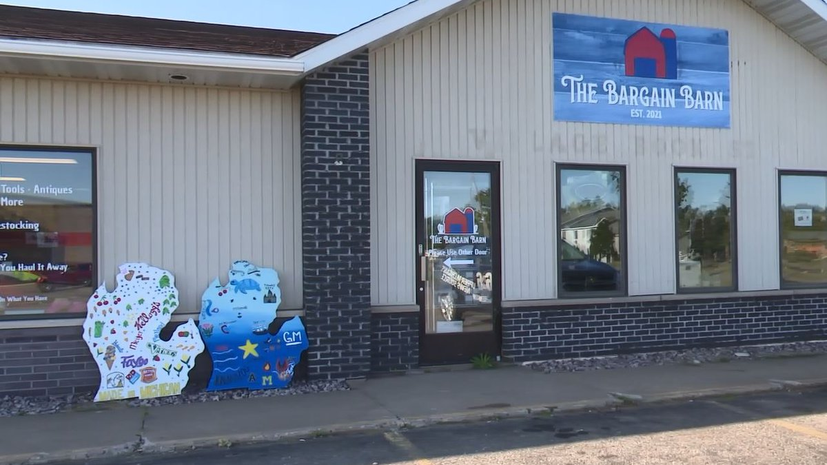 Bargain Barn/A.M. Thrift is located in the Country Village in Ishpeming.