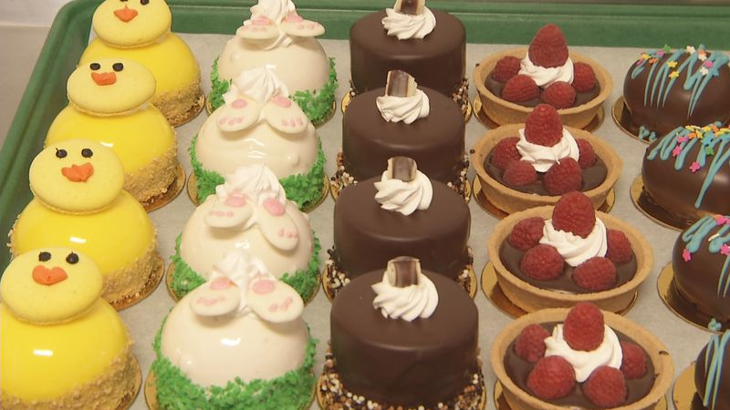 Easter-themed desserts at Huron Mountain Bakery