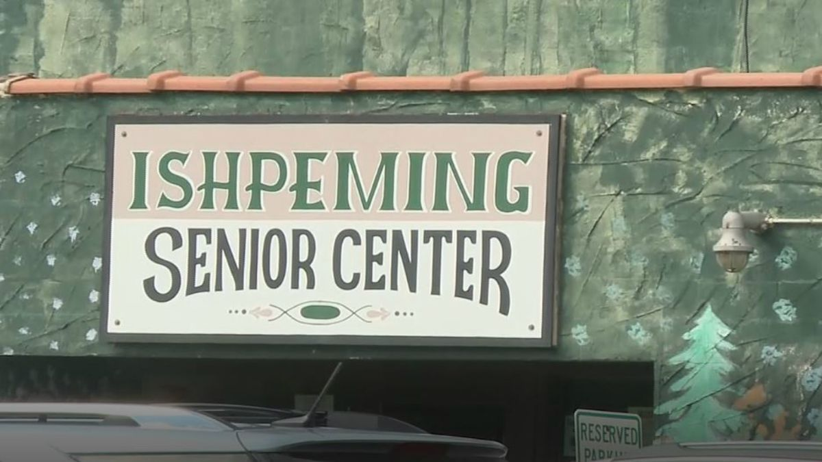 Sign at the old Ishpeming Senior Center, which will be torn down using grant funds. (WLUC Photo)