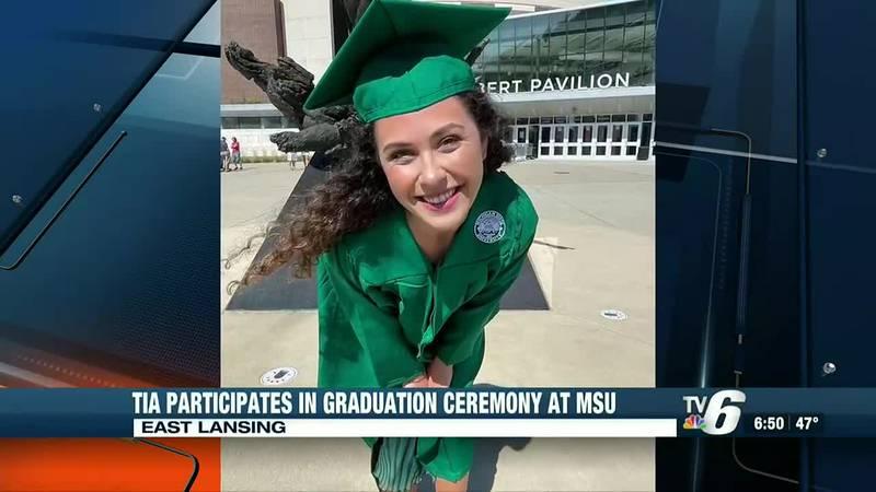 Tia at her graduation ceremony