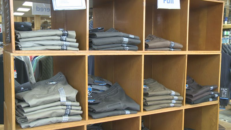Getz's is experiencing a shortage of pants due to the shipping delays.
