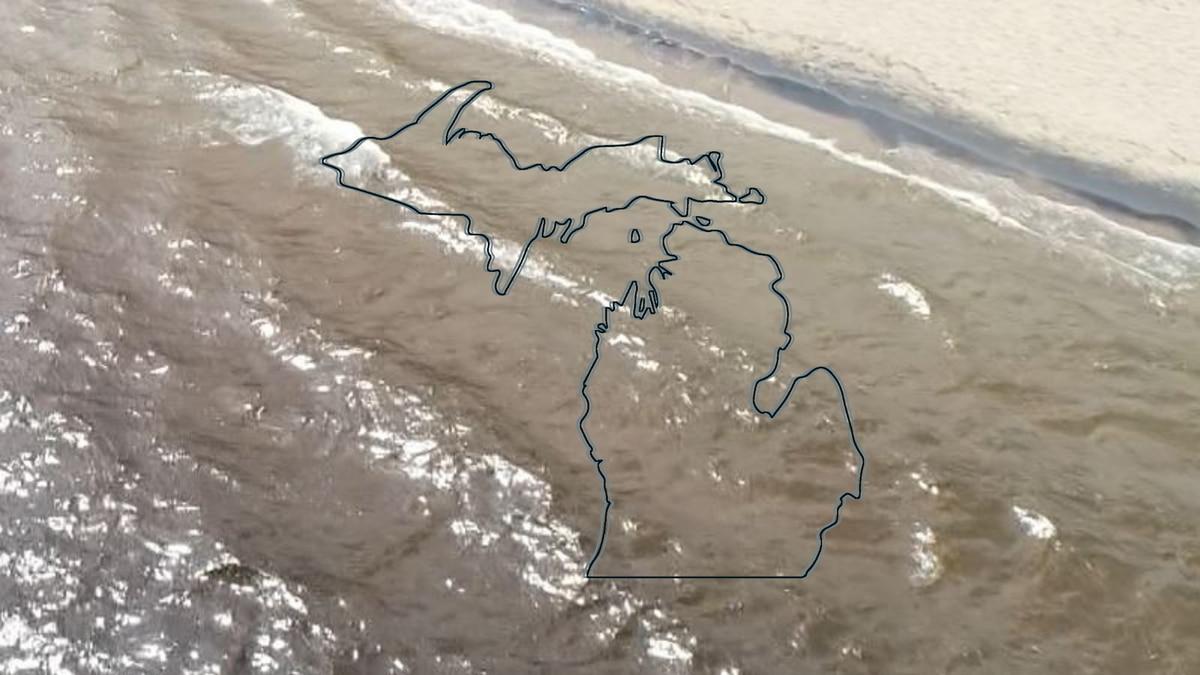 Lake Superior shoreline and a Michigan Map graphic.