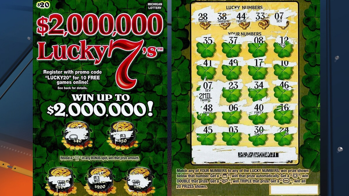 Marquette County woman's $2 million winning ticket through the Michigan Lottery's Lucky 7's...