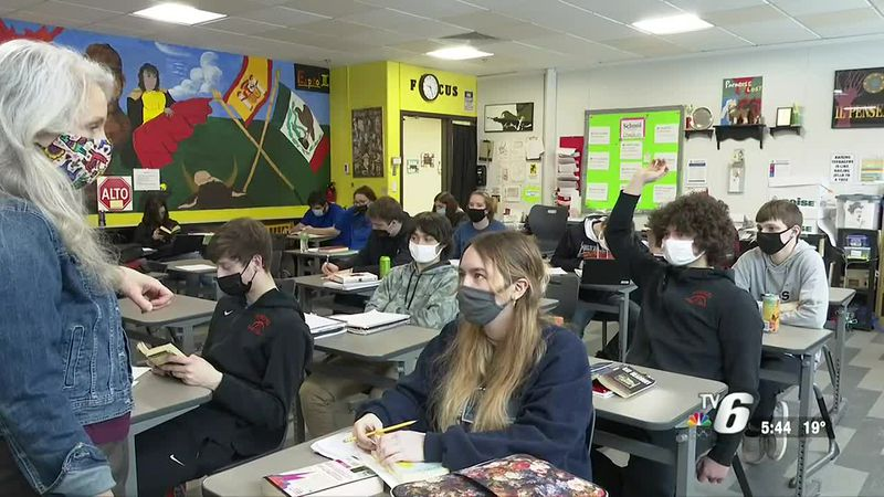 90% of Munising School students have returned to in-person learning and 70% of teachers and...