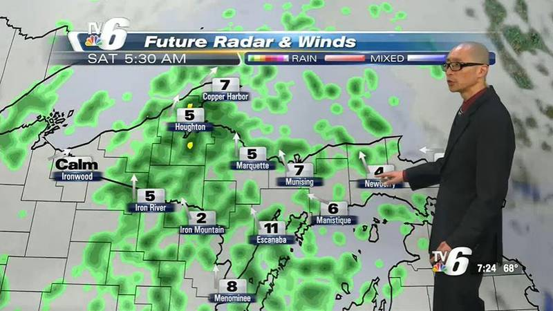 Steady rain episodes possible past midmorning and can produce 1/4″ rainfall in some areas.