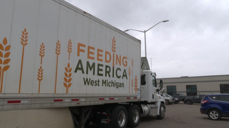 Feeding America Mobile Food Pantry in Marquette