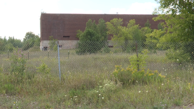 The Mather B. Mine behind the Negaunee High School.