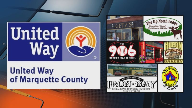 Eight local businesses are support the United Way of Marquette County's campaign kickoff week.