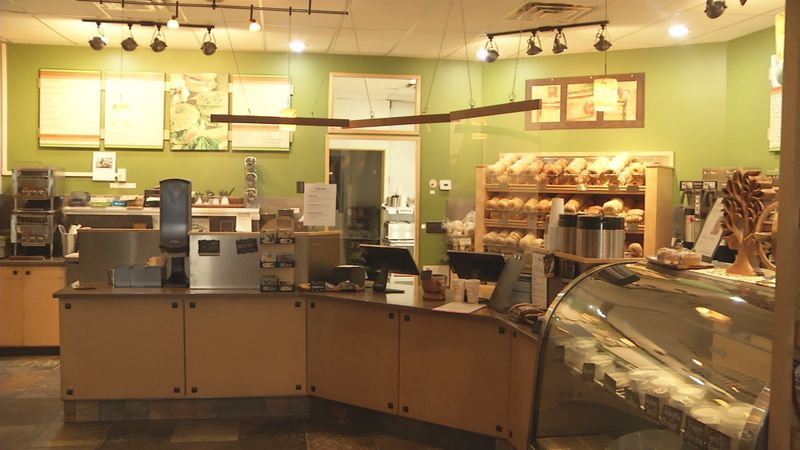 The interior of Third Street Bagel in Marquette.