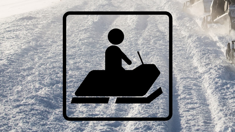 Snowmobiling graphic.