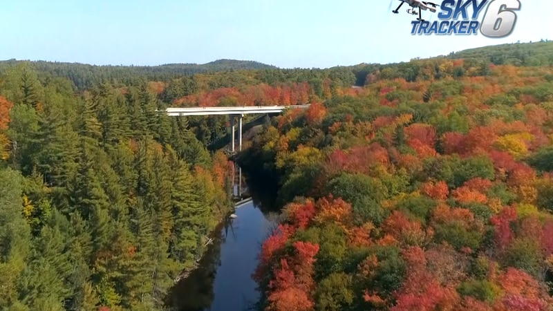 FILE. A, aerial view of the fall colors from 2020, from TV6's SkyTracker6 drone.