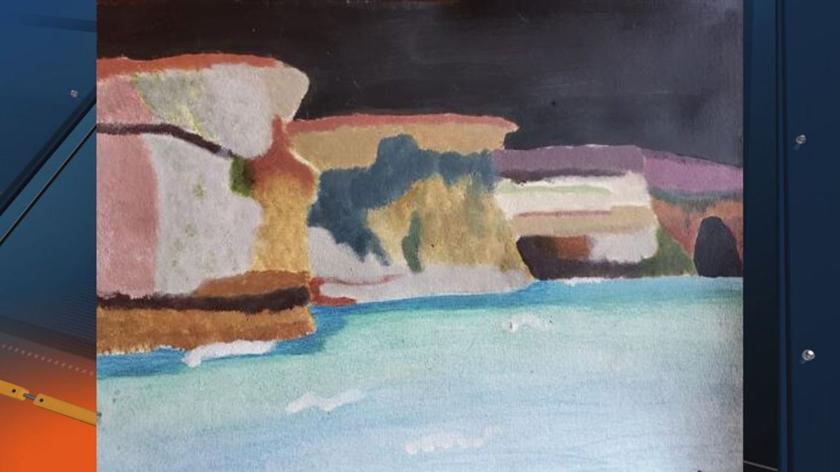 """Hannah Brewster of Munising High School claimed first prize for her work """"Battleship Row"""" in the 2020 Congressional Art Competition for Michigan's First District. (Courtesy Photo)"""