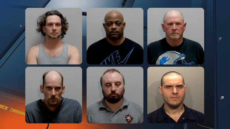 Mugshots, top to bottom, left to right for Marquette County cases: Robert Jay Miller, Ameire...