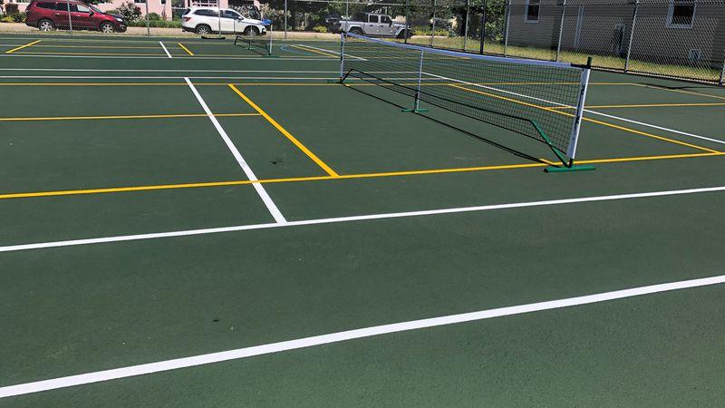 Pickleball courts in Gladstone, MI.
