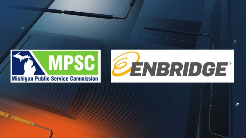 (Michigan Public Service Commission and Enbridge Energy logos)