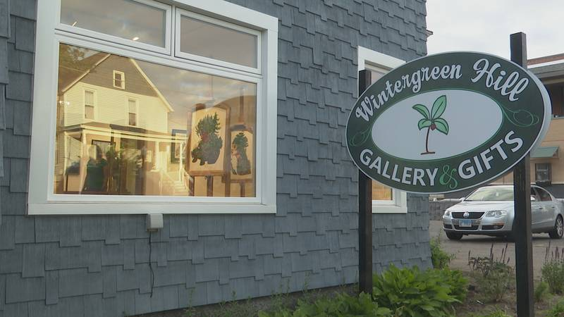 New art gallery in downtown Marquette.