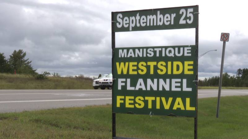 Flannel Fest sign.