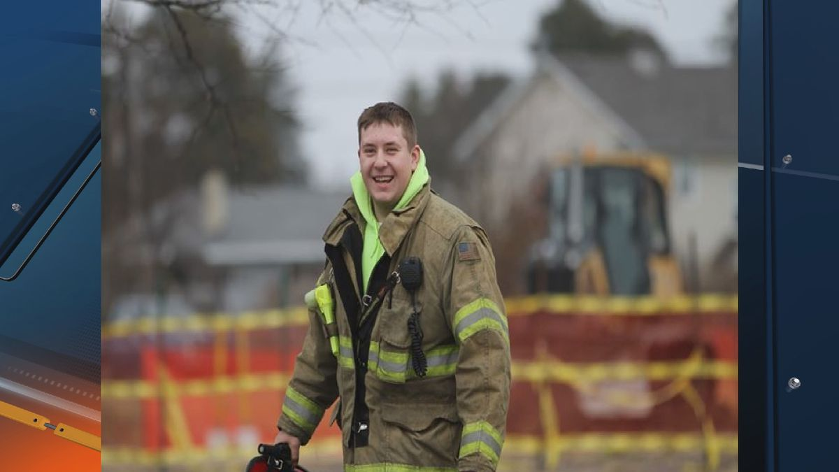 23-year-old Ben Lauren was killed in the line of duty while battling a fire at a K.I. Sawyer duplex Friday, March 13
