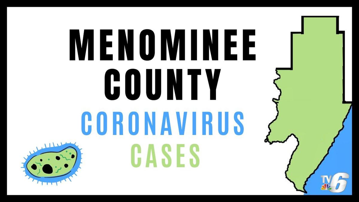 Menominee County coronavirus cases.
