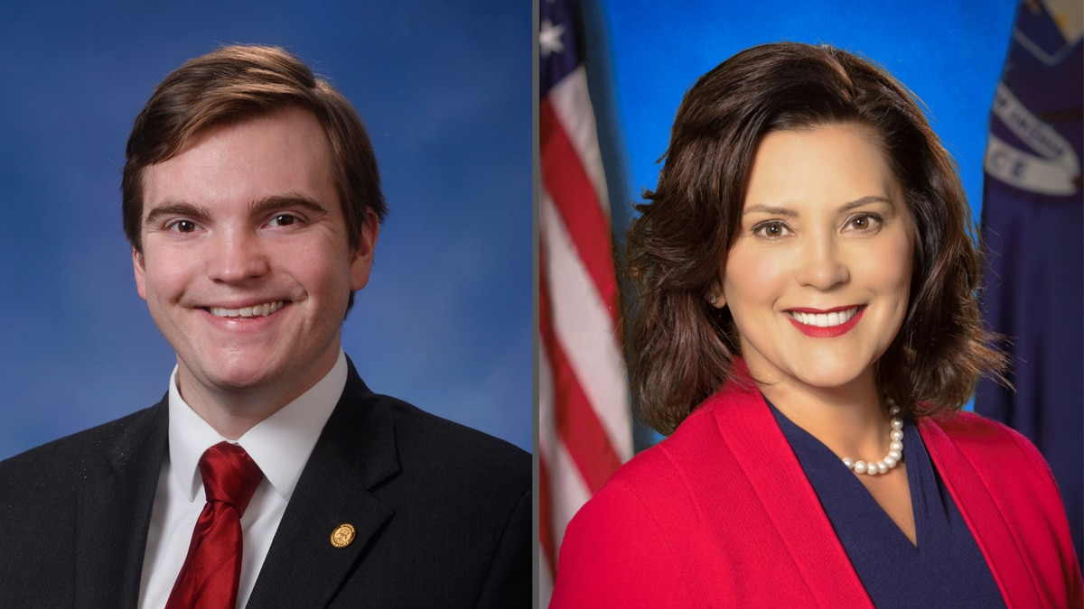 Republican State. Rep. Beau Lafave, of Iron Mountain, and Democratic Gov. Gretchen Whitmer.