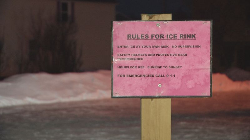 Rules for ice rink at Ishpeming's new outdoor ice rink.