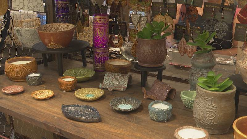 A display in Amelia's Craft Market