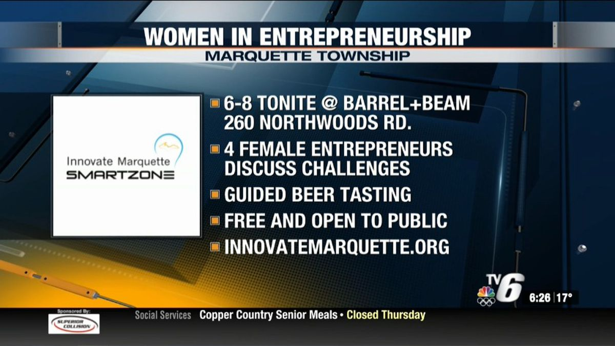"""The """"Women in Entrepreneurship"""" panel discussion will feature four local female business owners who will talk about the challenges and opportunities for women in business in Upper Michigan."""