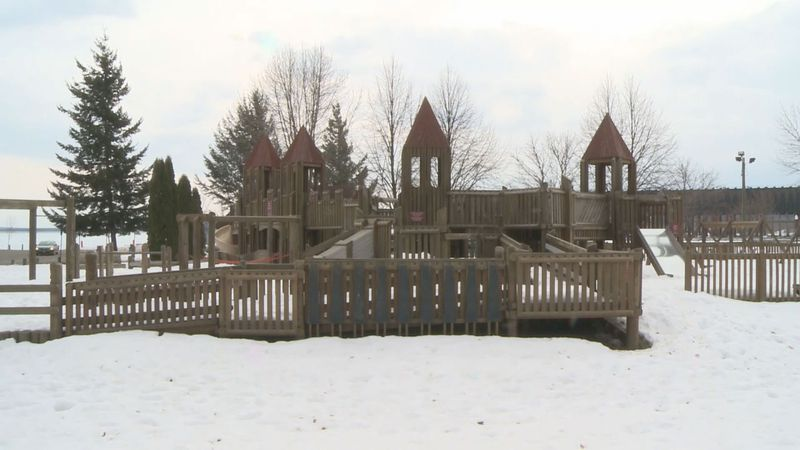 File photo of existing Kids Cove playground at Mattson Lower Harbor Park in Marquette.