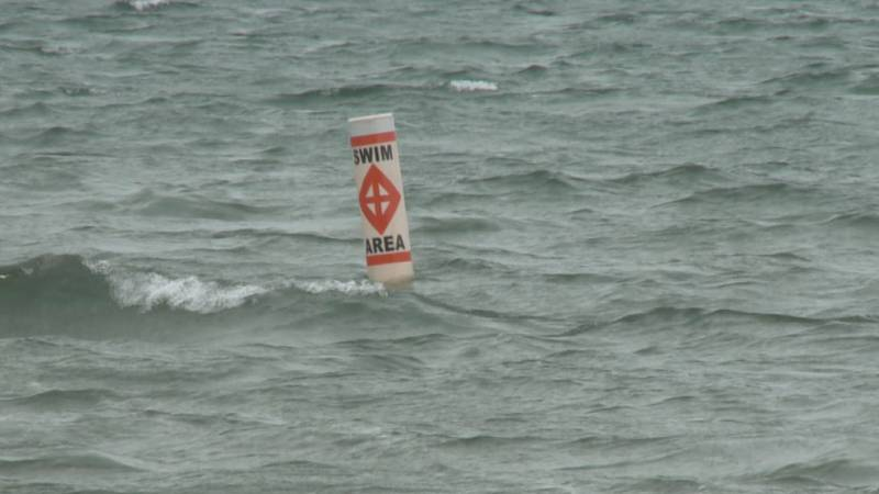 The beaches were closed for swimming after high E. coli levels were found in the water.