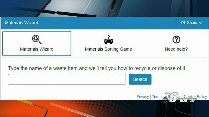 The online tool allows users to search for an item to find out if it can be recycled