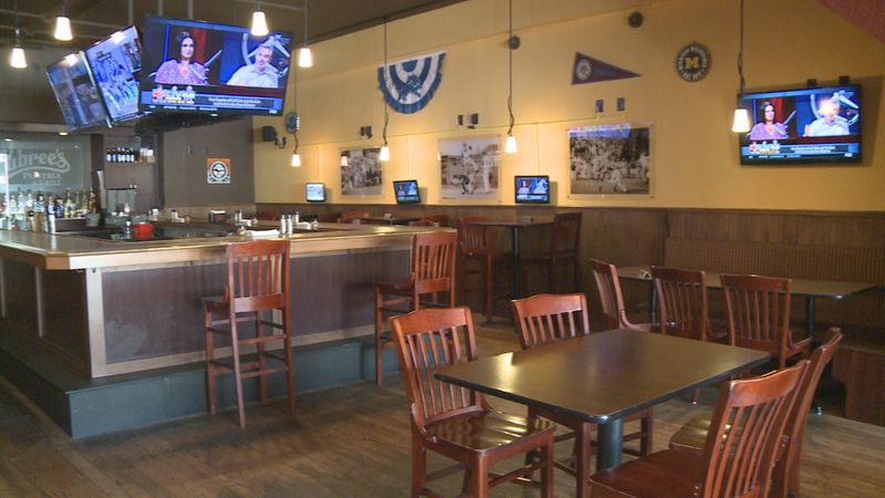 Aubree's Pizzeria & Grill owner Bryan French believes restaurants should be opened at 50%...