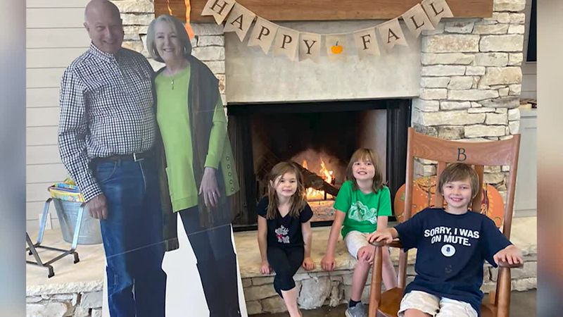 The cutouts created an activity for their grandchildren, who have had fun placing them in...
