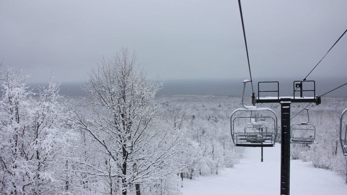 A chairlift in the Porcupine Mountains Wilderness State Park.