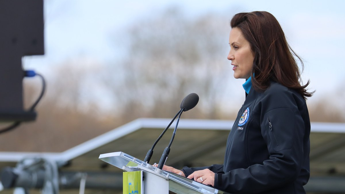 Governor Gretchen Whitmer announced April 22, 2021, that state-owned facilities will utilize...