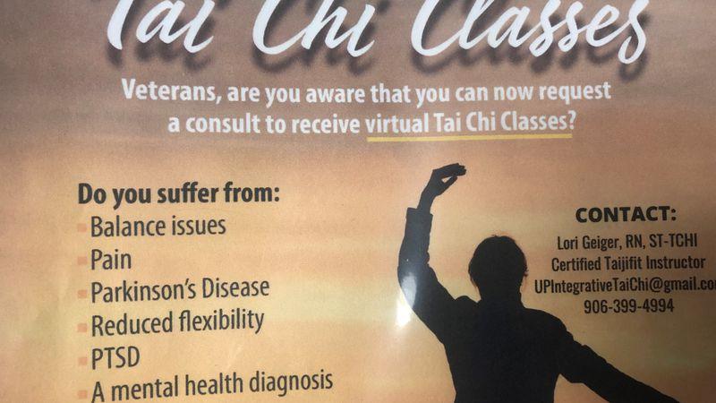 Tai chi for veterans poster.