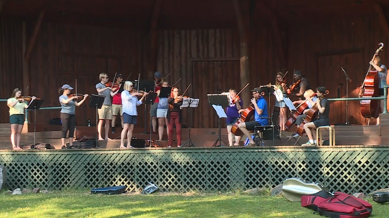 The Summer Strings group in Marquette during rehearsal