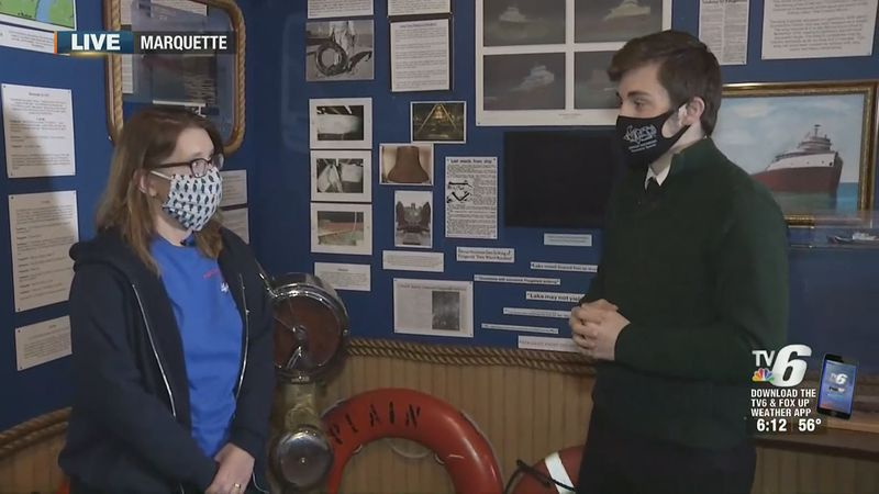 A discussion with Marquette Maritime Museum Hilary Billman about the Edmund Fitzgerald play and...