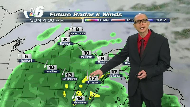 Half-inch to an inch of rainfall possible in some U.P. locations