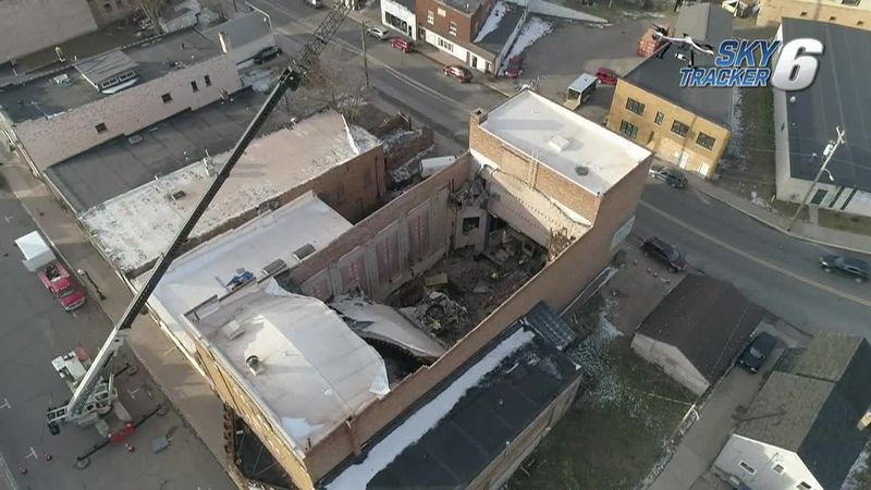 A look inside the Historic Vista Theater in Negaunee from above with TV6's SkyTracker6 drone on...